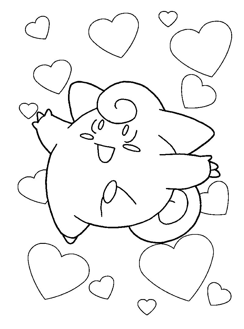 Clefairy Pokemon Coloring Pages
