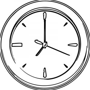 Clock clipart free printable 2 cartoonized free printable coloring page