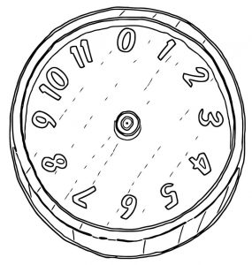 Clock fa free printable ce cartoonized free printable coloring page