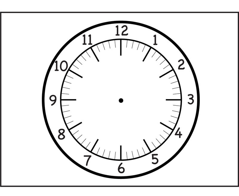 Clock Face Printable Concept