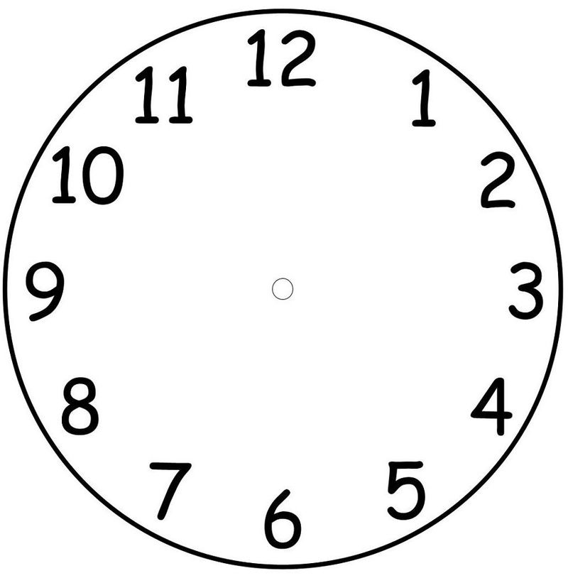 Clock Face Templates For Kids