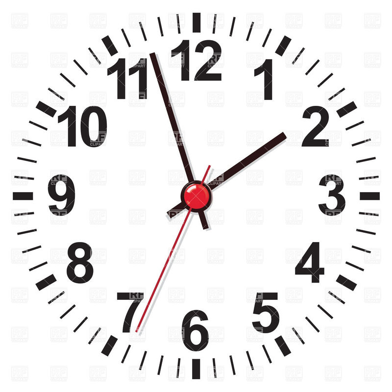 Clock Face Templates Vector