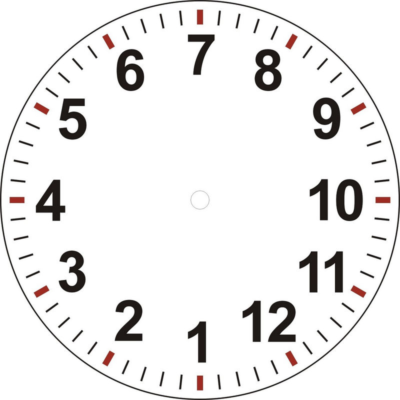 Clock Face With Minutes Printable Photo