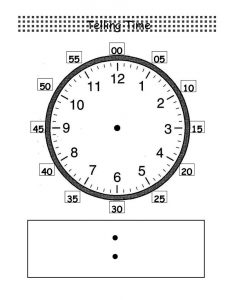 Clock face worksheet 2016