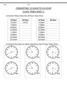 Clock face worksheet practice