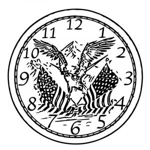 Clock us clipa free printable rt cartoonized free printable coloring page