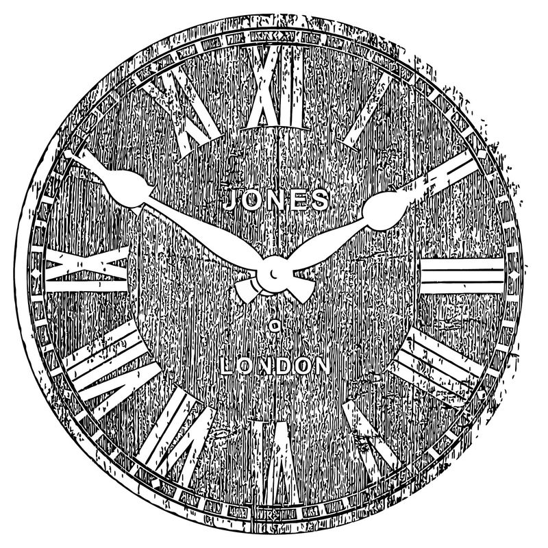 Clocks Salvage Jones Co Dover Wall Clock C2a319 92 Tesco Dire Free Printable Ct Cartoonized Free Printable Coloring Page
