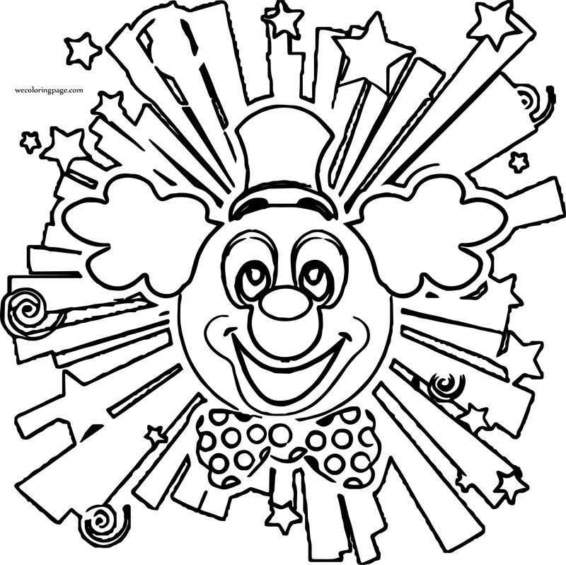 Clown Shape Coloring Page