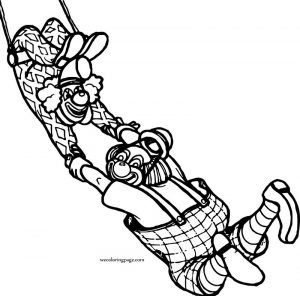 Clowns circus animals coloring page