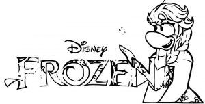 Club penguin frozen 7 coloring page