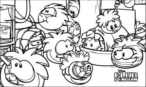 Club penguin puffle wallpaper puffle party 2013 coloring page