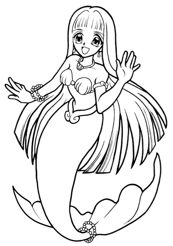 Coco In Mermaid Melody Coloring Sheet
