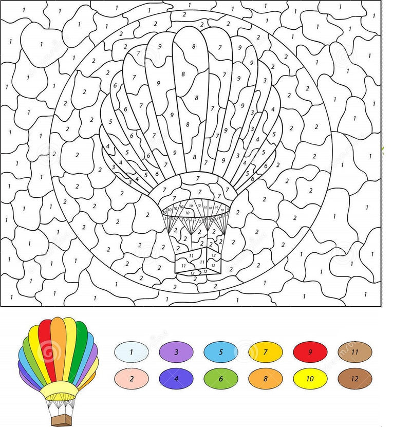 Color By Number Mosaic Balloon