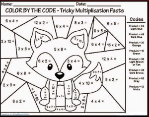 Color by number multiplication free