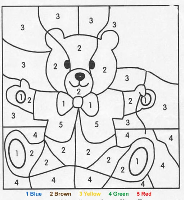 Color By Numbers Bear