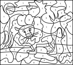 Color by numbers coloring sheets