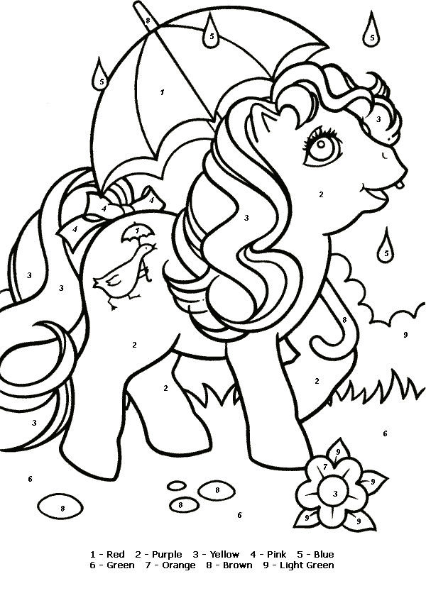 Color By Numbers Mylittlepony Quackers