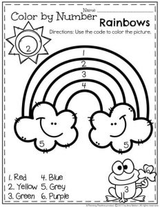 Color by numbers rainbow