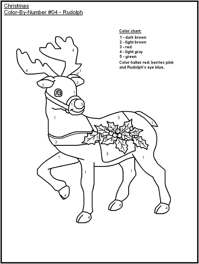 Color By Numbers Worksheet For Children