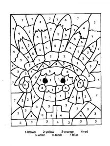 Color by numbers worksheet indian