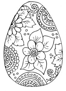 Color easter egg easter coloring page