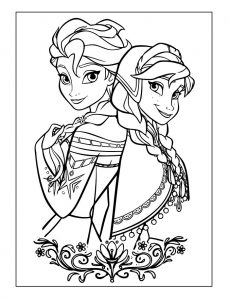 Color elsa and anna