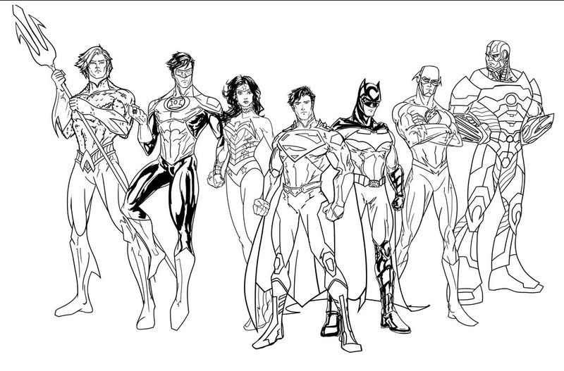 Color Justice League Characters 001
