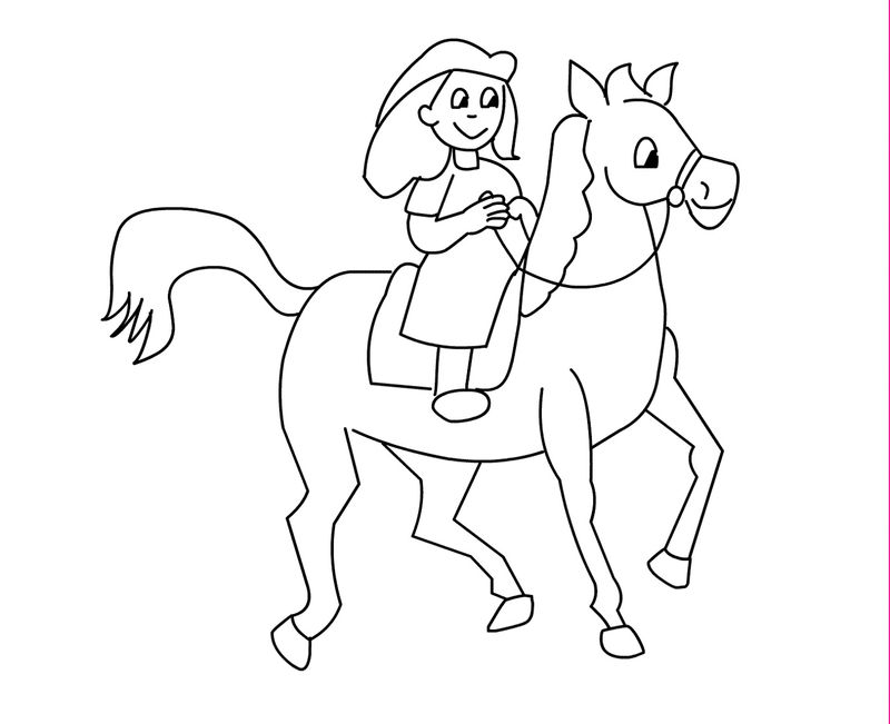 Color Pages Of Horses For Kids