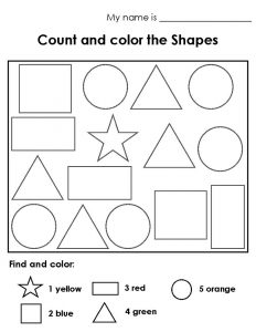 Color the shapes worksheet for children 001