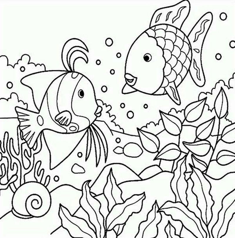 Coloring Books For Kids Animal Fish 001