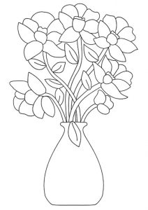 Coloring flower bouquest 001