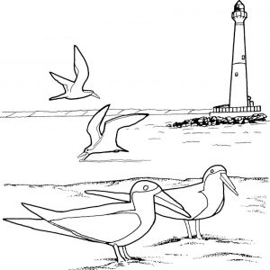 Coloring lighthouse pages for kids1 001