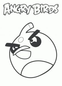 Coloring page angry bird