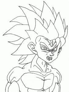 Coloring page dragon ball z