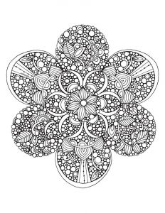 Coloring page for adults mandala