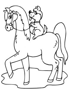 Coloring page of horse