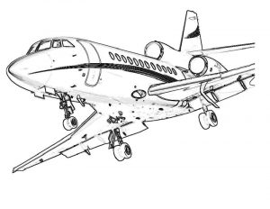 Coloring pages airplane