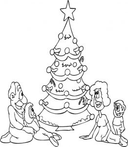 Coloring pages christmas tree1