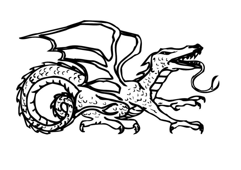 Coloring Pages Dragons 001