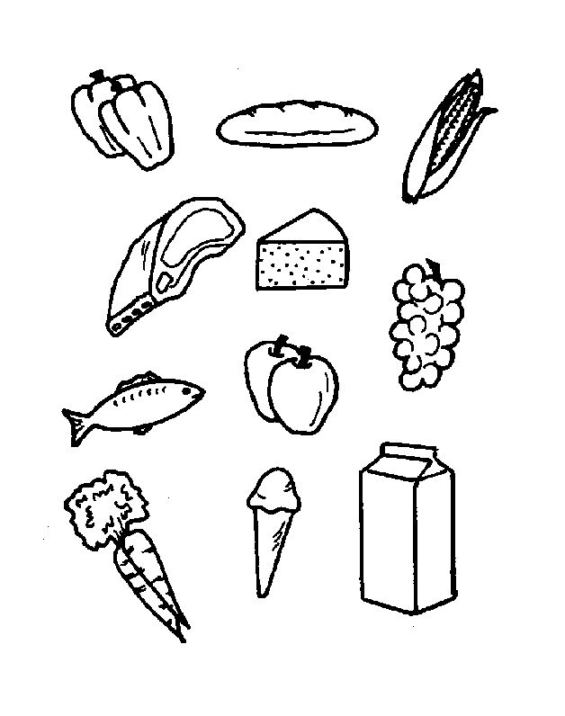 Coloring Pages Food Groups