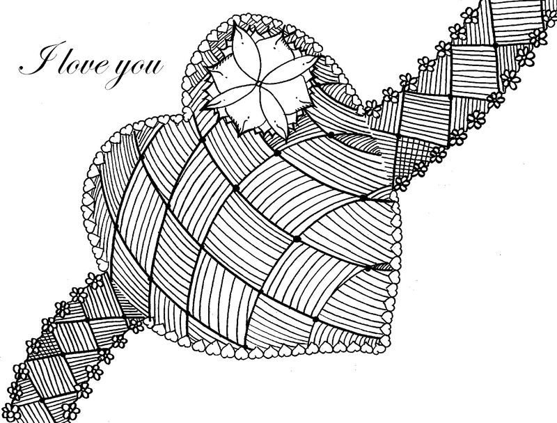 Coloring Pages For Adults Heart 1