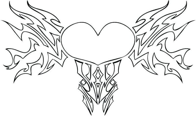 Coloring pages for adults printable hearts