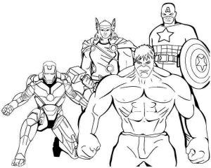 Coloring pages for boys avengers