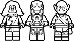 Coloring pages for boys marvel lego