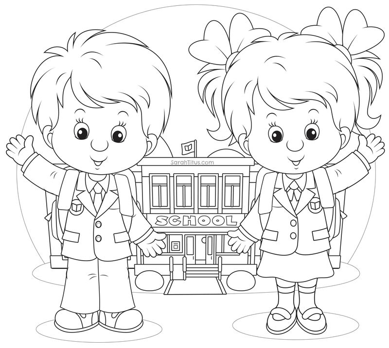 Coloring Pages For Elementary School Kids Back To School 001
