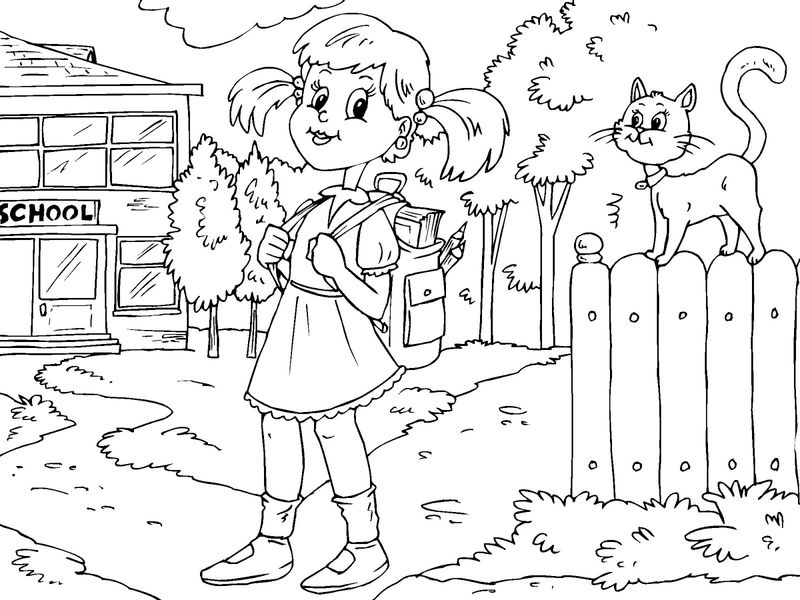 Coloring Pages For Elementary School Kids Girls