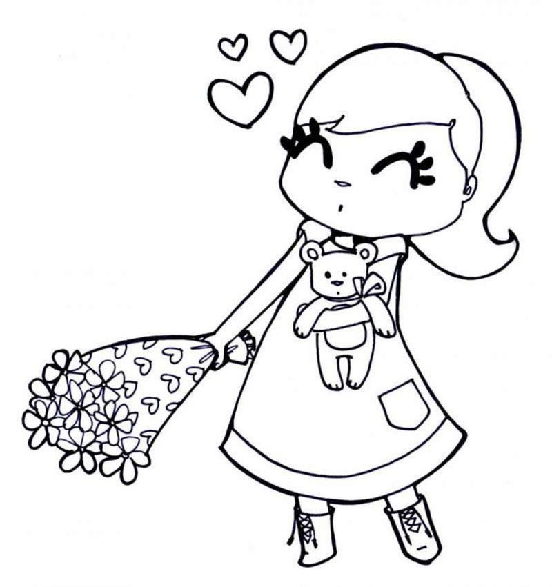 Coloring Pages For Girls 001
