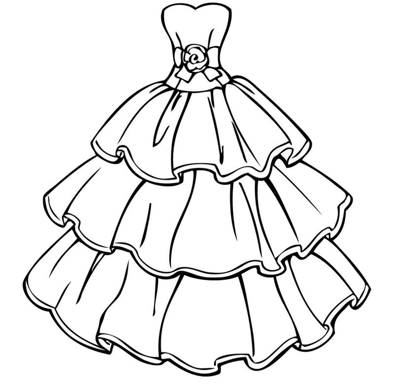 Coloring Pages For Girls Online Dress