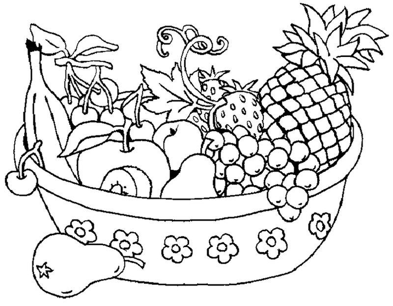 Coloring Pages For Girls Online Fruit