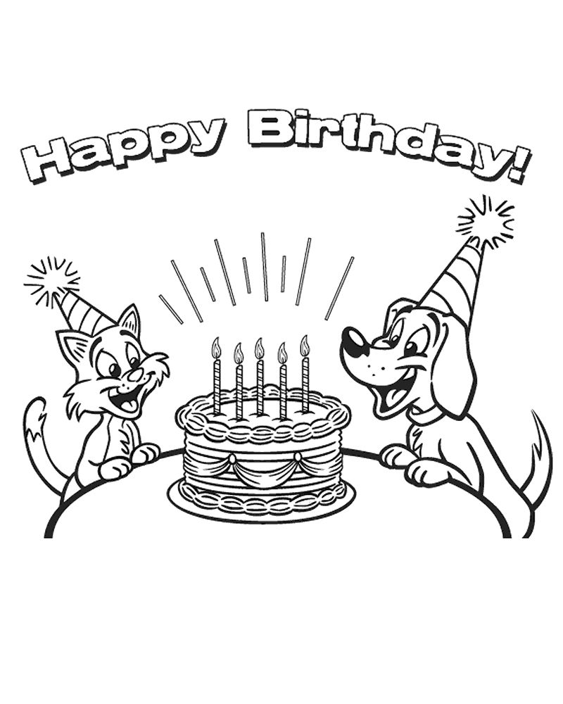 Coloring Pages For Happy Birthday